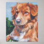 Impresión tocante del arte del perro perdiguero de impresiones