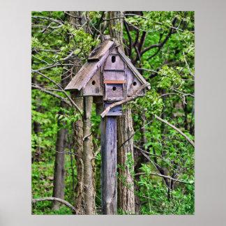 Impresión triangular del Birdhouse Impresiones