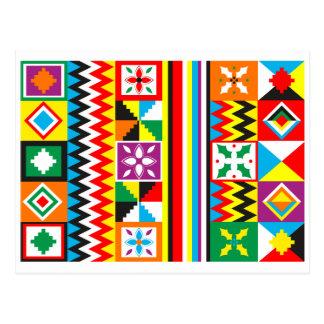 Impresión tribal africana del modelo del paño de postales