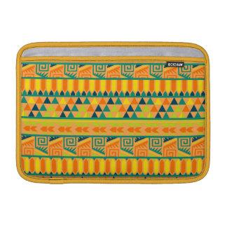 Impresión tribal azteca abstracta colorida funda macbook air