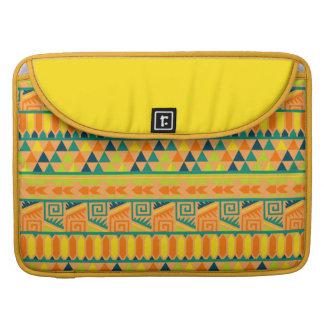 Impresión tribal azteca abstracta colorida funda macbook pro