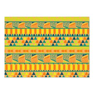 "Impresión tribal azteca abstracta colorida invitación 5"" x 7"""