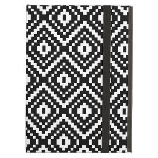 Impresión tribal azteca blanco y negro