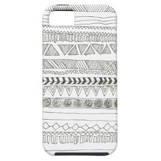 Impresión tribal azteca blanco y negro iPhone 5 Case-Mate carcasa