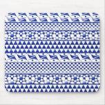 Impresión tribal azteca Pattrn del extracto azul Mousepad