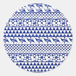 Impresión tribal azteca Pattrn del extracto azul