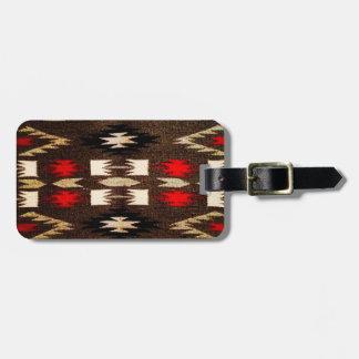 Impresión tribal del diseño de Navajo del nativo a Etiqueta Para Equipaje