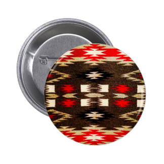 Impresión tribal del diseño de Navajo del nativo a Pin Redondo 5 Cm