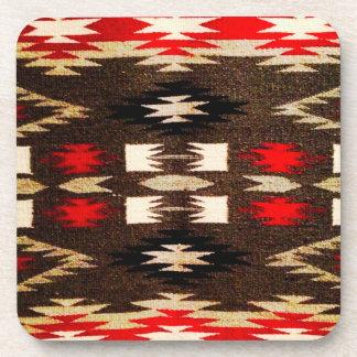 Impresión tribal del diseño de Navajo del nativo a Posavasos