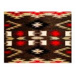 Impresión tribal del diseño de Navajo del nativo a Postal