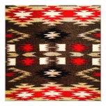 Impresión tribal del diseño de Navajo del nativo Invitación