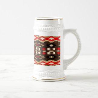 Impresión tribal del diseño de Navajo del nativo Jarra De Cerveza