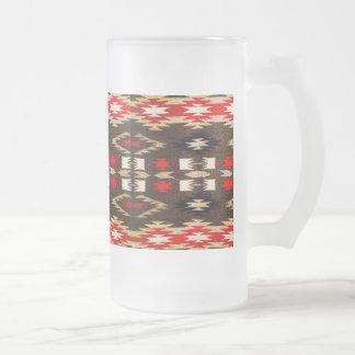 Impresión tribal del diseño de Navajo del nativo Taza De Cristal
