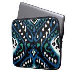 Impresión tribal del ikat del negro elegante elega funda portátil