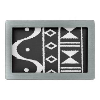Impresión tribal II Hebilla De Cinturon Rectangular