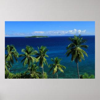 Impresión tropical de la isla poster