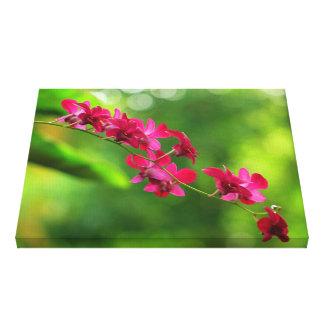 Impresión tropical de la lona de las orquídeas impresion de lienzo