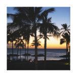 Impresión tropical de la lona del destino lona envuelta para galerias