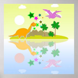 Impresión tropical del poster de la isla de los di