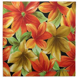 Impresión tropical servilletas de papel