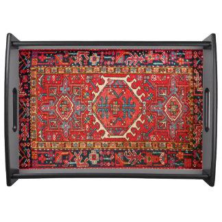 Impresión turca o persa oriental antigua de la bandeja