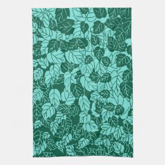 Impresión, turquesa y aguamarina japonesas de la toallas de mano