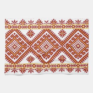Impresión ucraniana del bordado del algodón de la