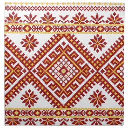 Impresión ucraniana del bordado del algodón de las