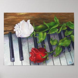 Impresión Ultravioleta-resistente de los rosas mus Póster