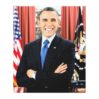 Impresión única de la lona del retrato de Obama Impresión En Lienzo Estirada