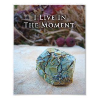 Impresión única meditativa de la roca del zen fotografía