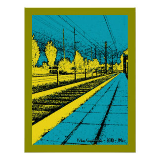 Impresión urbana de la composición póster
