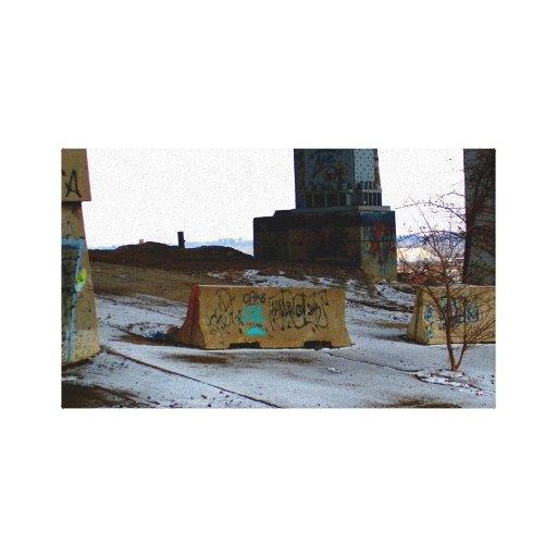 Impresión urbana de la lona de arte lona envuelta para galerias