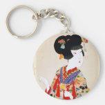 Impresión verdadera del japonés del vintage de la  llaveros