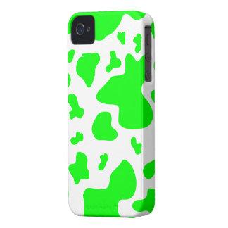 Impresión verde blanca imponente de la vaca - caso iPhone 4 funda