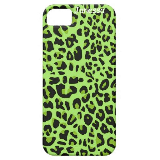 Impresión verde de Jaguar iPhone 5 Cobertura