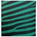 Impresión verde de la cebra servilleta imprimida