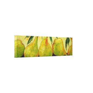 Impresión verde de la lona del abrigo de la galerí impresión en lienzo estirada
