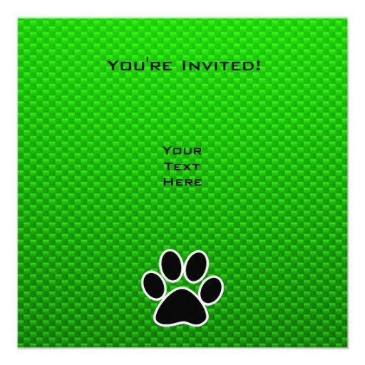 Impresión verde de la pata comunicados personalizados