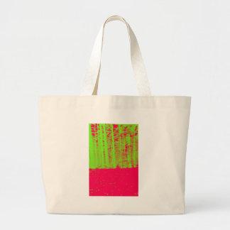 Impresión verde de neón del arte moderno del poste bolsa de mano