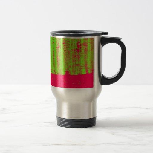 Impresión verde de neón del arte moderno del poste taza