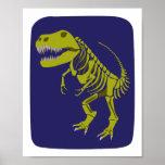 Impresión verde de T-Rex Póster