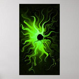 Impresión verde del cinturón de Fuego Posters