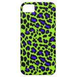 Impresión verde del guepardo iPhone 5 Case-Mate fundas