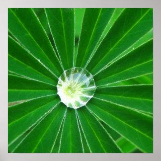Impresión verde del poster de la energía