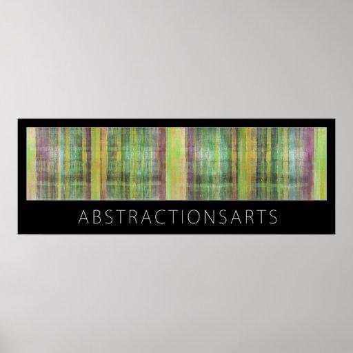 Impresión verde del poster del arte moderno