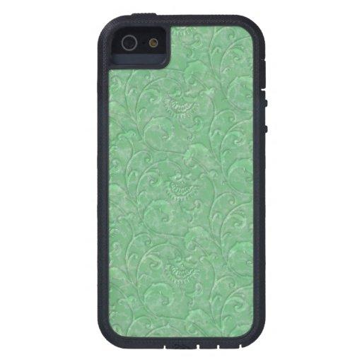 """Impresión verde iPhone """"de mármol"""" líquido iPhone 5 Carcasas"""