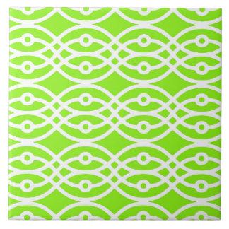 Impresión, verde lima y blanco del kimono tejas  ceramicas