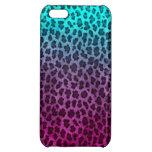 Impresión verde rosada púrpura del guepardo