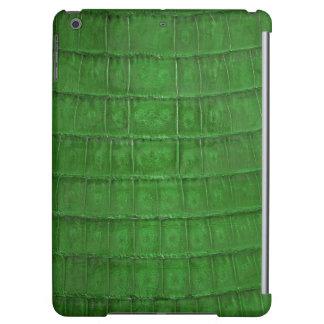 Impresión verde vibrante del cocodrilo